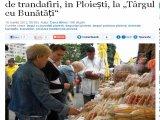"""Degustări de brânzeturi și dulceață de trandafiri, în Ploiești, la """"Târgul cu Bunătăți"""""""