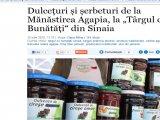 """Dulcețuri și șerbeturi de la Mănăstirea Agapia, la """"Târgul cu Bunătăți"""" din Sinaia"""