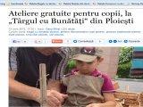 """Ateliere gratuite pentru copii, la """"Târgul cu Bunătăți"""" din Ploiești"""